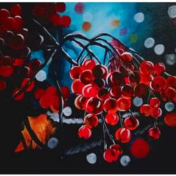 Nature and Cherries - 18x14