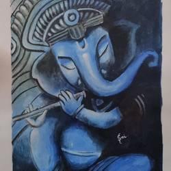 Lord Ganesha - 12x16