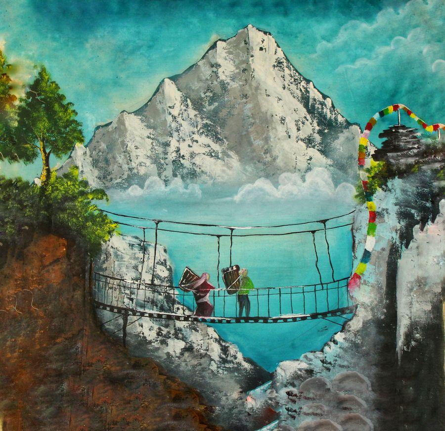 handmade landscape canvas paintings, 22 x 22 inch, subrata kumar paul,22x22inch,cloth,paintings,landscape paintings,acrylic color,ADR21312030820