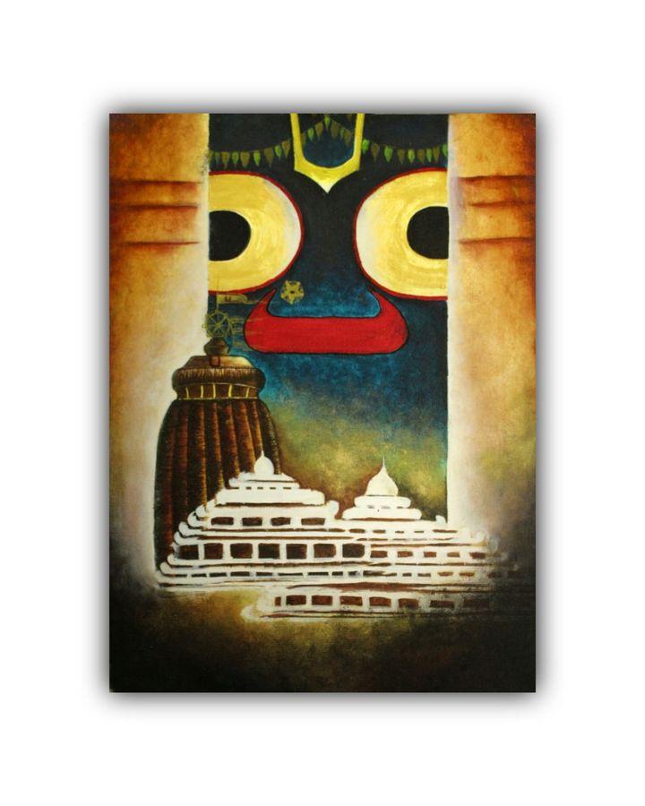 lord jagannath canvas painting, 11 x 15 inch, subrata kumar paul,11x15inch,canvas,paintings,modern art paintings,acrylic color,ADR21312030822