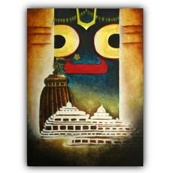 Lord Jagannath Canvas Painting - 11x15