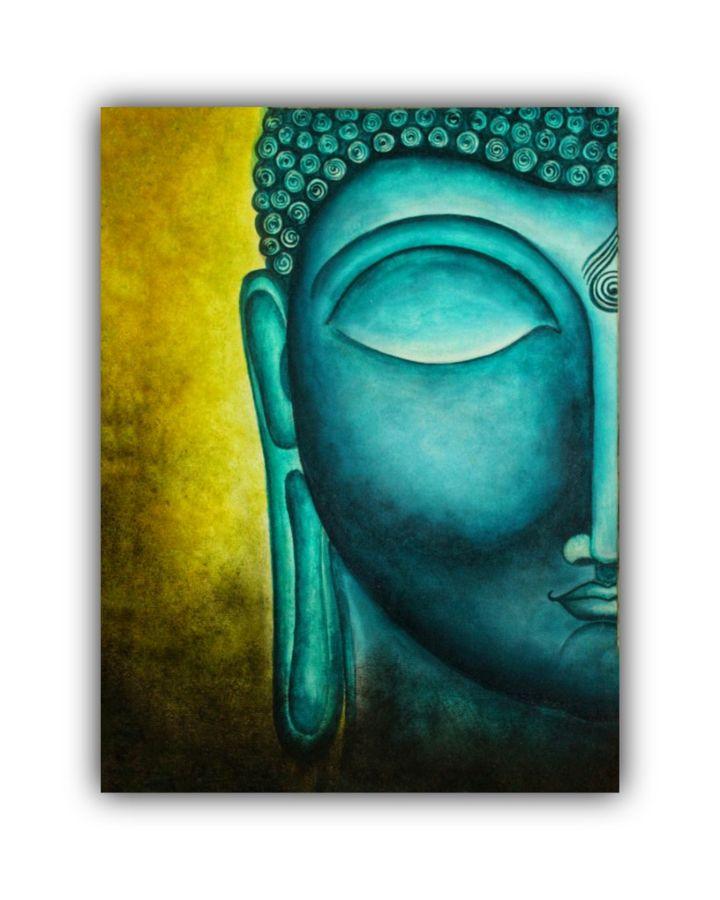 buddha canvas painting, 11 x 15 inch, subrata kumar paul,11x15inch,canvas,paintings,buddha paintings,acrylic color,ADR21312030823
