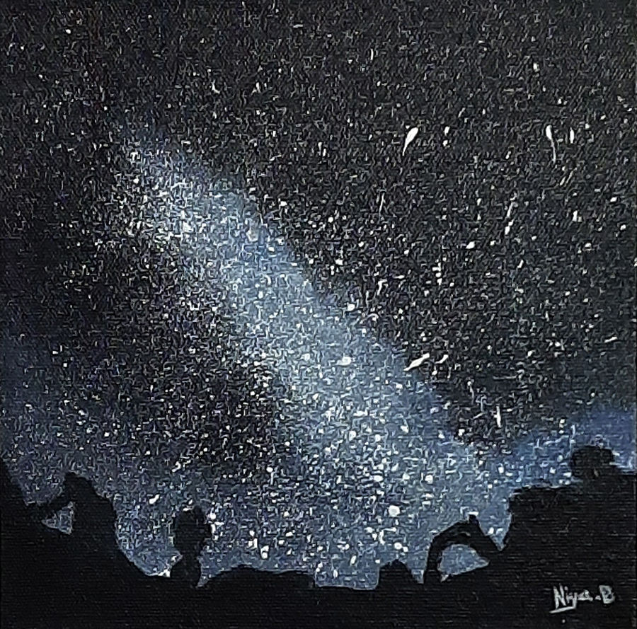 stars 01, 8 x 8 inch, tejal bhagat,8x8inch,canvas board,paintings,abstract paintings,landscape paintings,modern art paintings,conceptual paintings,nature paintings | scenery paintings,abstract expressionism paintings,expressionism paintings,illustration paintings,impressionist paintings,photorealism paintings,photorealism,realism paintings,surrealism paintings,contemporary paintings,realistic paintings,paintings for dining room,paintings for living room,paintings for bedroom,paintings for office,paintings for hotel,paintings for kitchen,paintings for schools & colleges,paintings for hospital,acrylic color,ADR21262030829