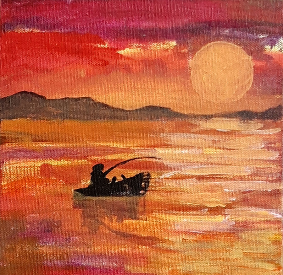 sunset, 8 x 8 inch, tejal bhagat,8x8inch,canvas board,paintings,abstract paintings,figurative paintings,landscape paintings,conceptual paintings,nature paintings | scenery paintings,abstract expressionism paintings,expressionism paintings,illustration paintings,impressionist paintings,photorealism paintings,photorealism,realism paintings,surrealism paintings,contemporary paintings,realistic paintings,love paintings,paintings for dining room,paintings for living room,paintings for bedroom,paintings for office,paintings for bathroom,paintings for hotel,paintings for kitchen,paintings for schools & colleges,paintings for hospital,acrylic color,ADR21262030832