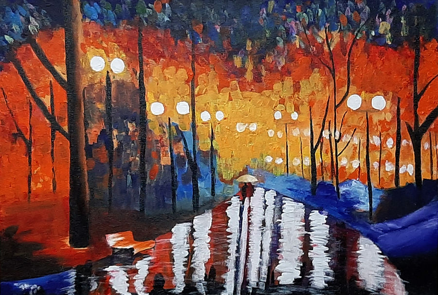 night abstract, 24 x 16 inch, tejal bhagat,24x16inch,canvas,paintings,abstract paintings,flower paintings,cityscape paintings,landscape paintings,conceptual paintings,nature paintings   scenery paintings,abstract expressionism paintings,expressionism paintings,illustration paintings,impressionist paintings,photorealism paintings,photorealism,realism paintings,surrealism paintings,contemporary paintings,realistic paintings,love paintings,paintings for dining room,paintings for living room,paintings for bedroom,paintings for office,paintings for kids room,paintings for hotel,paintings for kitchen,paintings for schools & colleges,paintings for hospital,acrylic color,ADR21262030834