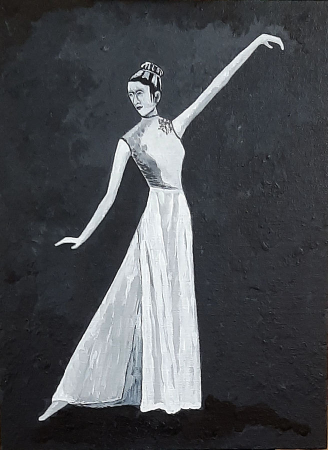 dancing lady, 12 x 16 inch, tejal bhagat,12x16inch,canvas board,paintings,abstract paintings,figurative paintings,conceptual paintings,portrait paintings,expressionism paintings,impressionist paintings,photorealism paintings,photorealism,realism paintings,contemporary paintings,realistic paintings,love paintings,paintings for dining room,paintings for living room,paintings for bedroom,paintings for office,paintings for hotel,paintings for kitchen,paintings for schools & colleges,paintings for hospital,acrylic color,ADR21262030835