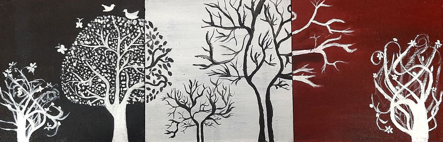 abstract trees, 24 x 8 inch, tejal bhagat,24x8inch,canvas board,paintings,abstract paintings,wildlife paintings,flower paintings,landscape paintings,multi piece paintings,conceptual paintings,nature paintings | scenery paintings,abstract expressionism paintings,expressionism paintings,illustration paintings,impressionist paintings,realism paintings,surrealism paintings,animal paintings,contemporary paintings,love paintings,warli paintings,paintings for dining room,paintings for living room,paintings for bedroom,paintings for office,paintings for bathroom,paintings for hotel,paintings for kitchen,paintings for schools & colleges,paintings for hospital,acrylic color,ADR21262030838