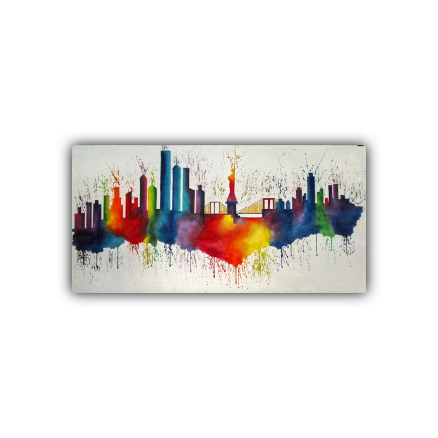 paris cityscape abstract, 46 x 22 inch, subrata kumar paul,46x22inch,cloth,paintings,abstract paintings,cityscape paintings,acrylic color,ADR21312030848