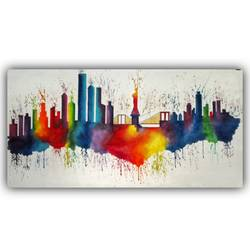 Paris Cityscape Abstract - 46.25x22.44