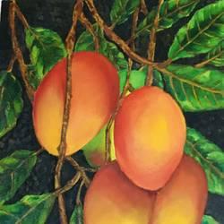 Mangoes - 11.7x16.5