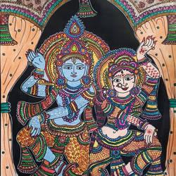Radhe sang Krishna - 8.5x11.5