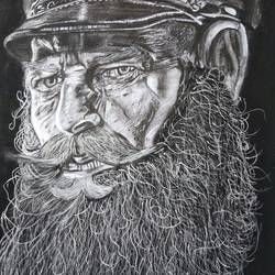 REALISTIC CHARCOL ARTWORK - 14x21