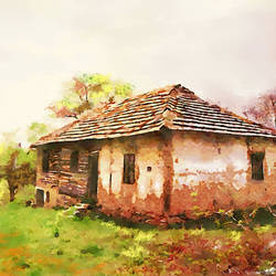 Countryside antique (old) house - 28x18