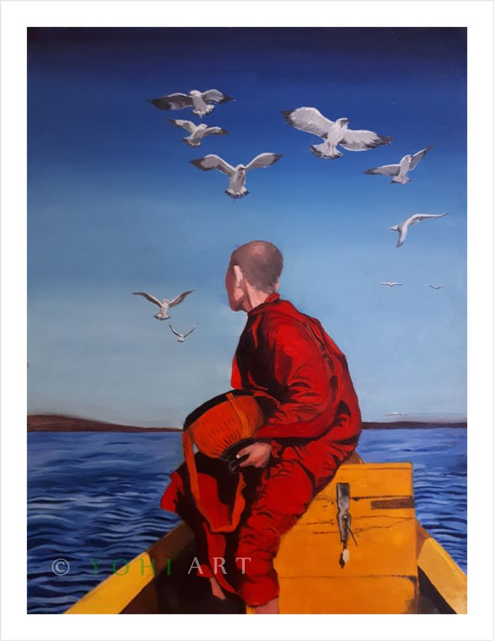 traveller, 12 x 16 inch, yogiraj gajbhar,12x16inch,thick paper,paintings,figurative paintings,portrait paintings,photorealism paintings,photorealism,paintings for dining room,paintings for living room,paintings for bedroom,paintings for office,paintings for hotel,oil color,ADR21475030918