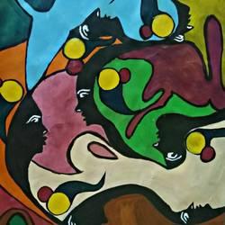 modern art faces disorientation  - 22x14