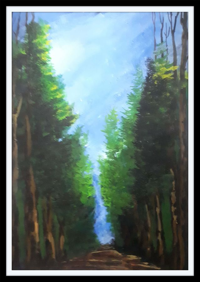 पायवाट, 11 x 16 inch, yogiraj gajbhar,11x16inch,thick paper,paintings,landscape paintings,nature paintings | scenery paintings,paintings for dining room,paintings for living room,paintings for bedroom,paintings for office,paintings for hotel,acrylic color,ADR21475030950