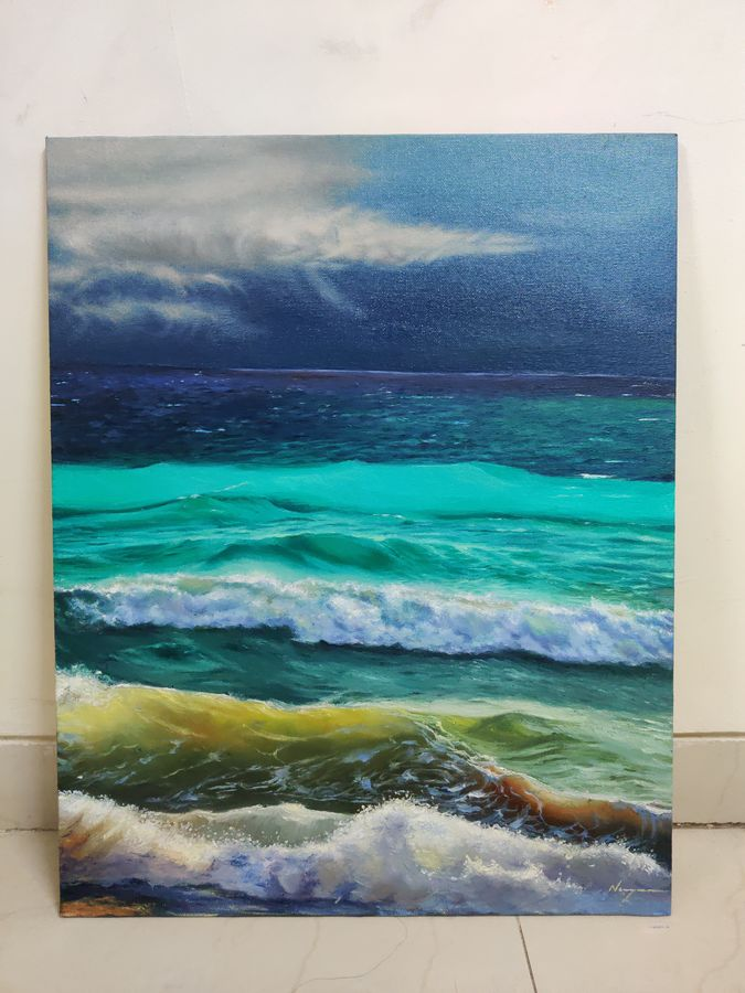 roaring waves, 16 x 20 inch, nayan lodhi,16x20inch,canvas board,landscape paintings,realistic paintings,paintings for dining room,paintings for living room,paintings for bedroom,paintings for office,paintings for hotel,paintings for kitchen,paintings for hospital,paintings for dining room,paintings for living room,paintings for bedroom,paintings for office,paintings for hotel,paintings for kitchen,paintings for hospital,oil color,ADR20361030953