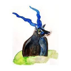The Blue Horned Antelope - 8x11