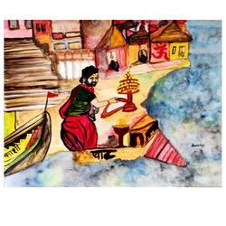A glimpse of Varanasi (Kaashi) - 11x8
