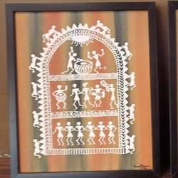 set of two warli painting - 10x12