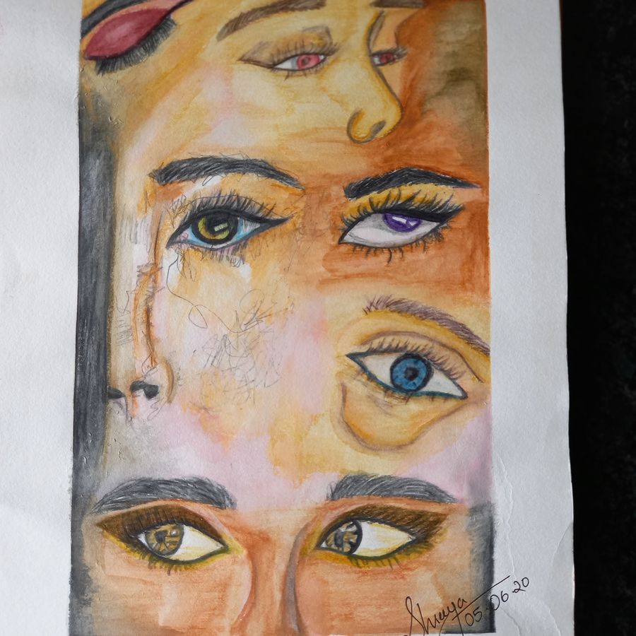 painting, 8 x 11 inch, shreeya kulhara,8x11inch,thick paper,abstract paintings,figurative paintings,modern art paintings,multi piece paintings,conceptual paintings,portrait paintings,abstract expressionism paintings,art deco paintings,expressionism paintings,illustration paintings,impressionist paintings,pop art paintings,portraiture,realism paintings,street art,paintings for living room,paintings for bedroom,paintings for office,paintings for bathroom,paintings for hotel,paintings for schools & colleges,paintings for living room,paintings for bedroom,paintings for office,paintings for bathroom,paintings for hotel,paintings for schools & colleges,poster color,ADR21404030973