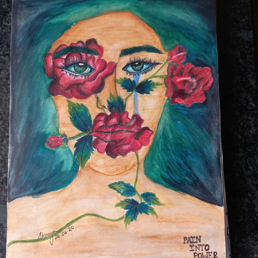 painting, 8 x 11 inch, shreeya kulhara,8x11inch,thick paper,paintings,abstract paintings,flower paintings,modern art paintings,multi piece paintings,conceptual paintings,portrait paintings,art deco paintings,expressionism paintings,illustration paintings,impressionist paintings,pop art paintings,portraiture,street art,contemporary paintings,paintings for dining room,paintings for living room,paintings for bedroom,paintings for office,paintings for bathroom,paintings for kids room,paintings for hotel,paintings for schools & colleges,paintings for hospital,poster color,ADR21404030983