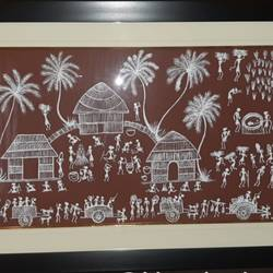 Warli painting - working day - 29x19