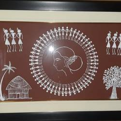 women in warli - 29x19