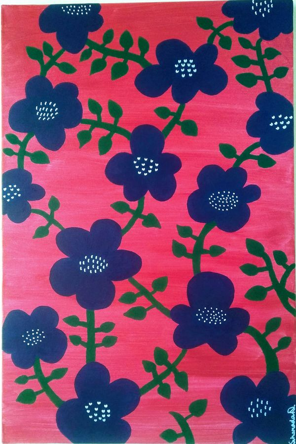floral1, 20 x 30 inch, scharada dubey,20x30inch,canvas,paintings,flower paintings,contemporary paintings,paintings for dining room,paintings for living room,paintings for bedroom,paintings for office,paintings for kids room,paintings for hotel,paintings for schools & colleges,paintings for hospital,acrylic color,ADR17792030997