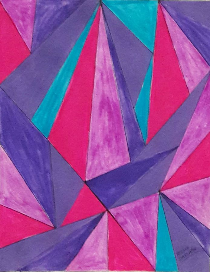 prism, 11 x 14 inch, reema ravindran,11x14inch,paper,paintings,abstract paintings,poster color,ADR18773031001