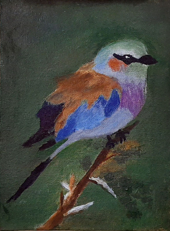 the bird, 6 x 8 inch, tejal bhagat,6x8inch,canvas board,paintings,wildlife paintings,nature paintings | scenery paintings,expressionism paintings,impressionist paintings,photorealism paintings,photorealism,realism paintings,surrealism paintings,animal paintings,realistic paintings,love paintings,paintings for dining room,paintings for living room,paintings for bedroom,paintings for office,paintings for bathroom,paintings for kids room,paintings for hotel,paintings for kitchen,paintings for schools & colleges,paintings for hospital,acrylic color,ADR21262031009