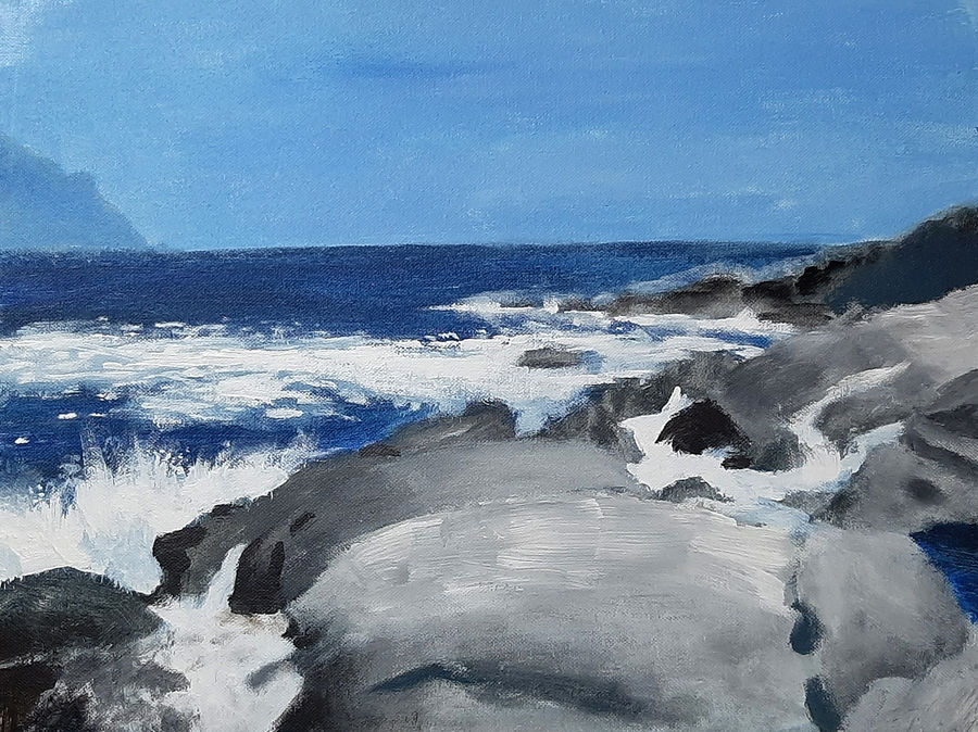 the blue sea, 16 x 12 inch, tejal bhagat,16x12inch,canvas board,paintings,landscape paintings,nature paintings | scenery paintings,expressionism paintings,impressionist paintings,photorealism paintings,photorealism,realism paintings,surrealism paintings,contemporary paintings,realistic paintings,paintings for dining room,paintings for living room,paintings for bedroom,paintings for office,paintings for bathroom,paintings for hotel,paintings for kitchen,paintings for schools & colleges,paintings for hospital,acrylic color,ADR21262031011