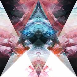 Digital transparent abstract  - 18x24