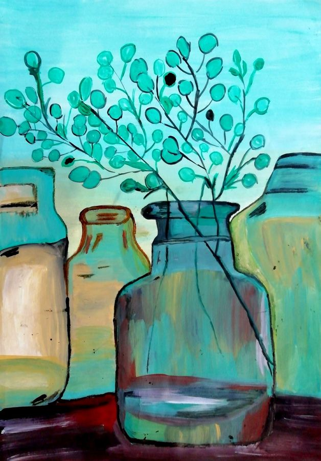 leafs in jar, 12 x 17 inch, shweta jain,12x17inch,drawing paper,paintings,abstract paintings,figurative paintings,art deco paintings,paintings for dining room,paintings for living room,paintings for bedroom,paintings for office,paintings for bathroom,paintings for kids room,paintings for hotel,paintings for kitchen,paintings for schools & colleges,paintings for hospital,acrylic color,paper,ADR18280031022