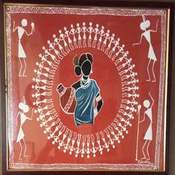 woman in warli - 19x15.5