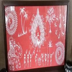 warli painting - 34x17.5