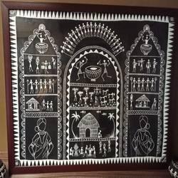 Detailed warli painting  - 30.5x24.5