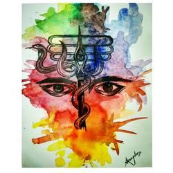 Lord Shiva  - 8.3x11.7