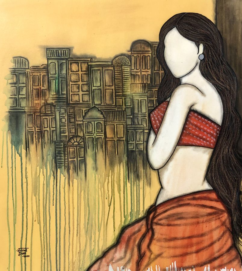 prarabdh, 30 x 36 inch, mrinal  dutt,30x36inch,canvas,paintings,figurative paintings,conceptual paintings,contemporary paintings,paintings for dining room,paintings for living room,paintings for bedroom,paintings for office,paintings for bathroom,paintings for kids room,paintings for hotel,paintings for kitchen,paintings for hospital,acrylic color,ADR13117031098