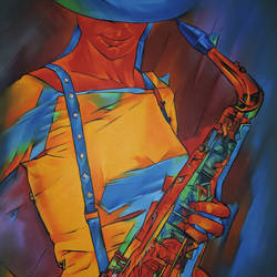 Musician  size - 24x36In - 24x36