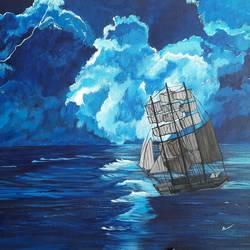 SeaScape - Rough Sea1 size - 36x24In - 36x24