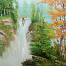 Forest Water Fall size - 18x14In - 18x14