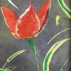 Abstract art of Floral size - 18x24In - 18x24