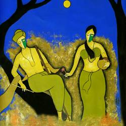 Romantic love  size - 30x30In - 30x30