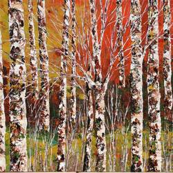 Birches Forest size - 24x20In - 24x20