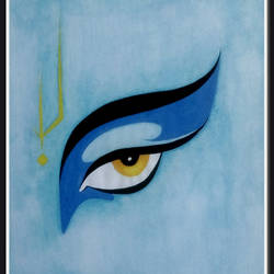 Eye of Lord Krishna size - 10.9x13In - 10.9x13