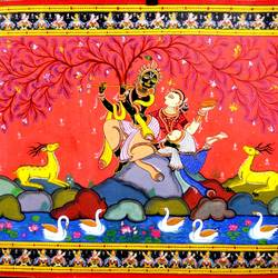 Radha Krishna size - 34x22In - 34x22