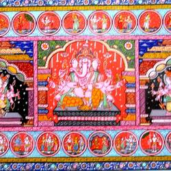 Ganesha Poses With Story size - 36x24In - 36x24