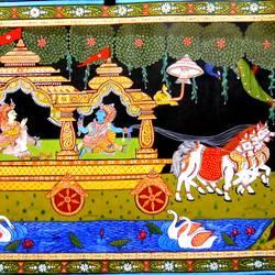 Krishna's Geeta Gyan size - 30x20In - 30x20
