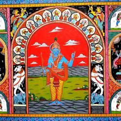 Krishna Raasleela 1 size - 36x24In - 36x24
